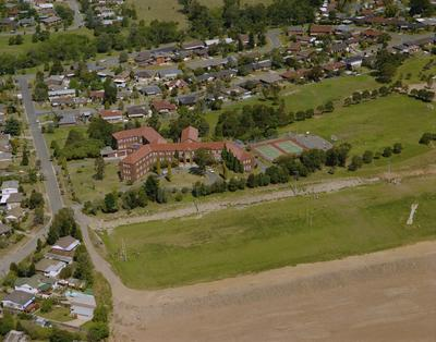 St Patrick's Marist College Aerial view of main buildings and surrounding fields