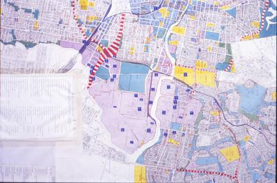 Photographed Map - Scheduled Premises Under the Clean Air Act, 1961, within half mile of Parramatta and Duck River as at the 30th July 1973