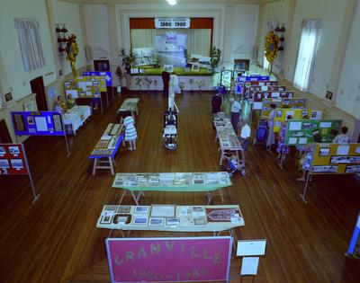 Granville Centenary Exhibition 1880-1980, View of the exhibition from high