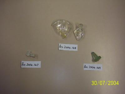 Clear glass bottle stopper