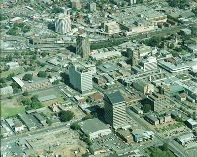 Aerial view of Parramatta City centre