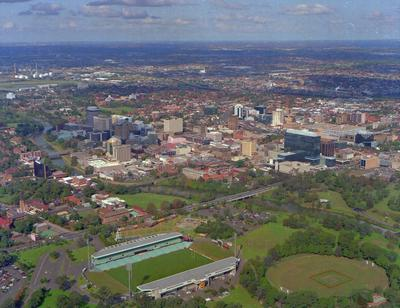Parramatta City Centre, Aerial Photo from North-West to East