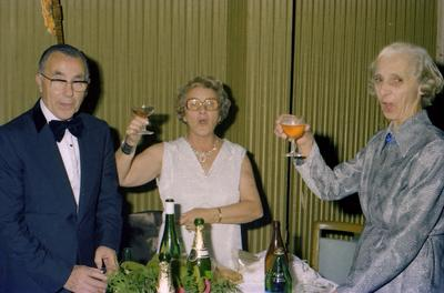 Parramatta Mayoral Ball 1976 : Group of people toasting