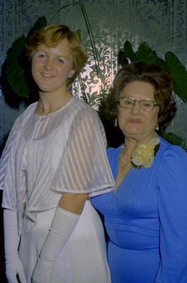 Parramatta Mayoral Ball 1976 : Debutant and a woman