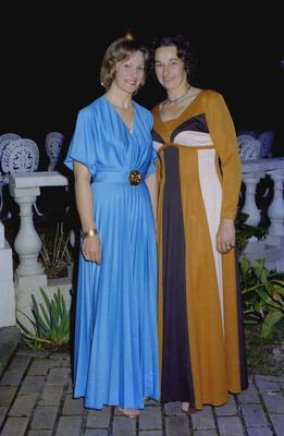 Parramatta Mayoral Ball 1976 : Portrait of two women