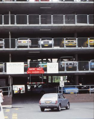 Car park at Phillip St and Horwood Pl.