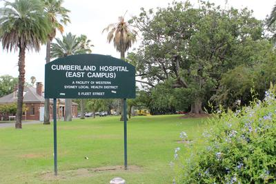 Female Factory Site - Cumberland Hospital East Campus sign former female factory site