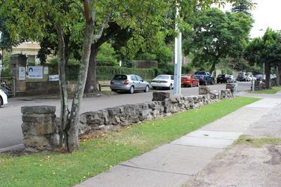 Fence along fleet street outside town houses