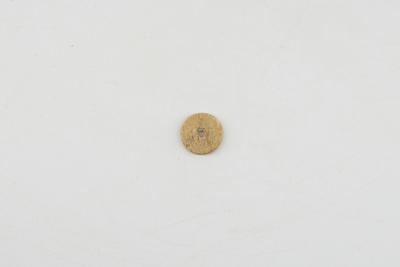 One hole bone button