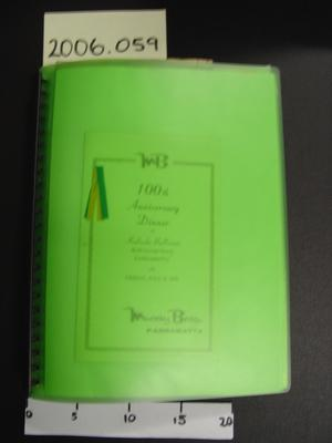 Folder containing Murray Bros & Patten's memorabilia