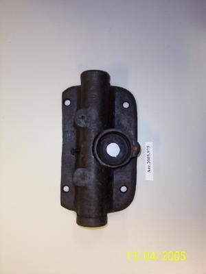 Partial metal door or gate latch
