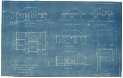 Building application and plans. For detached dwelling. R W Barnes lot 12 Carlingford Road Epping