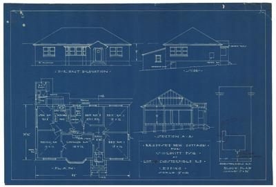 Building application and plan detached dwelling. Lovitt. Portion 18 Chesterfield Road Epping