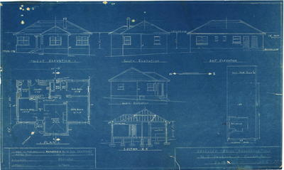 Building application and plan, Brick and tile dwelling. G. E. Pearson DP 8424 Lot 188 Midson Eastwood