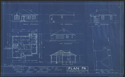 Building application and plan, residence. The Intercolonial Investment Company. Lot 50 and 51 Ward Street, Rye Estate Eastwood