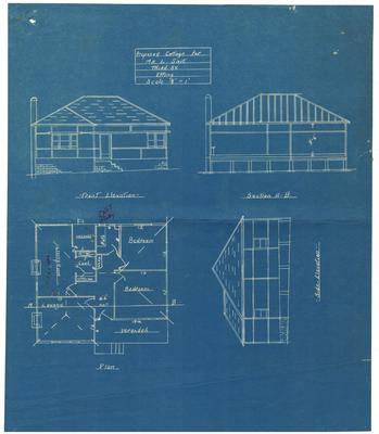 Building application and plan fibro cottage for L G Sait. Lot 26 Third Avenue Epping