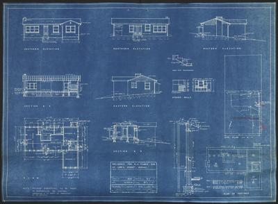 Building application and plan dwelling. R A Filmer lot 4 Nevertire estate No 2 Lewis Street Epping