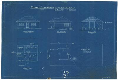 Building application and plan, proposed residence. J G Jupe Lot 8 Hughes Avenue Eastwood