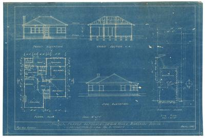 Building application and plans residence, D A Coady Lot 24 Block Homelands, Carlingford