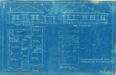 Building application and plan, brick dwelling and fibro garage. S. C. Smith, Lot A Kissing Point Road Dundas