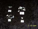 Six (6) fragments of clear glass